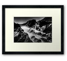 Bombo Rocks ~ B&W Framed Print