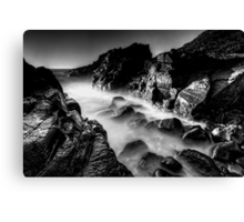 Bombo Rocks ~ B&W Canvas Print