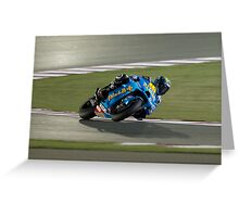Alvaro Bautista in Qatar 2011 Greeting Card