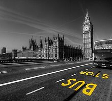 Big Ben bus stop by Rob Hawkins