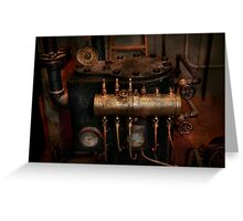 Steampunk - Plumbing - The valve matrix Greeting Card