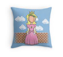 The Princess of Peach Throw Pillow