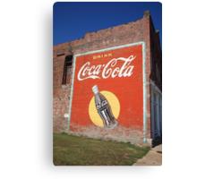 Route 66 - Coca Cola Mural Canvas Print