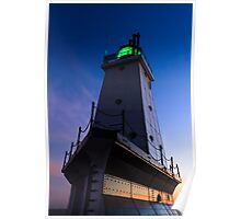 Ludington Lighthouse at Twilight Poster