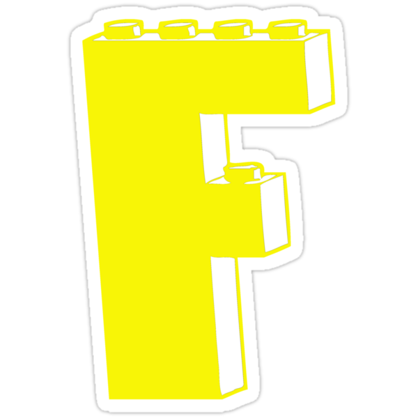 THE LETTER F by Customize My Minifig by ChilleeW