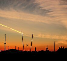 Dawn at Boardmasters Music Festival  by John Dunbar