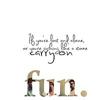 Fun. - Carry On Iphone case by Jonathon Measday