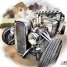 Rat Rod at Temecula Car Show by atomicpixal