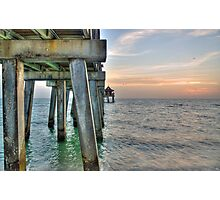 Sunset at Naples Pier  Photographic Print