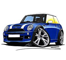 MINI [BMW] (Mk1) Cooper S Works Blue Photographic Print
