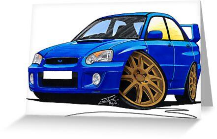 Subaru Impreza (2003-06) Blue by Richard Yeomans