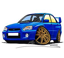 Subaru Impreza (2003-06) Blue Photographic Print
