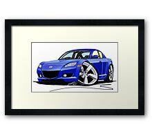 Mazda RX8 Blue Framed Print