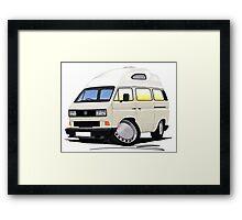 VW T25 / T3 [SQ] (High Top) White Framed Print