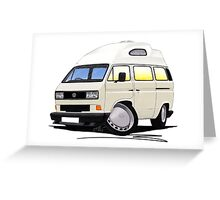 VW T25 / T3 [SQ] (High Top) White Greeting Card