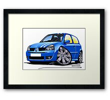 RenaultSport Clio 182 Blue Framed Print
