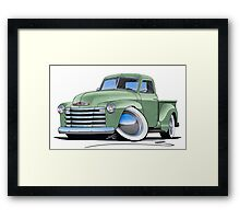 Chevy 3100 Pick-Up Pastel Green Framed Print