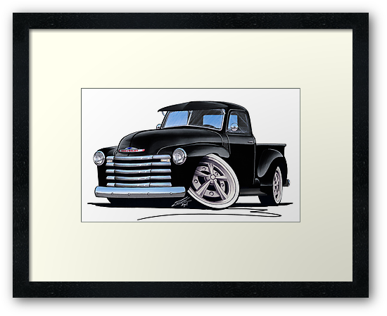 Chevy 3100 Pick-Up (A) Black by Richard Yeomans