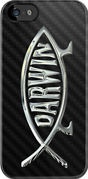 Darwin Fish in Silver Chrome by Chromed