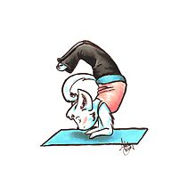 Yoga Kitty Photographic Print
