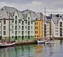 By the Water, Alesund, Norway by Gerda Grice