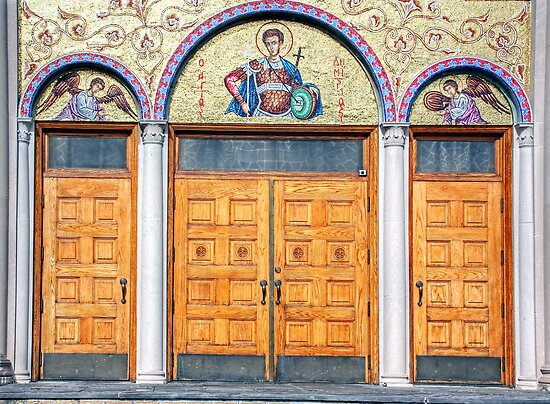 The doors of St Demetrios-Greek Orthodox Church by henuly1