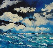 Storm over water. by Cathy Gilday
