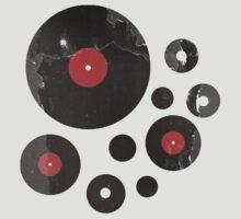 Vintage Vinyl Records Music DJ Retro Grunge T-Shirt! by Denis Marsili