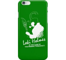 Loki Holmes (white) iPhone Case/Skin