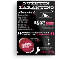 Quentin Tarantino infographic Metal Print