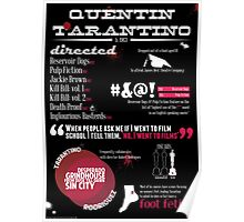 Quentin Tarantino infographic Poster