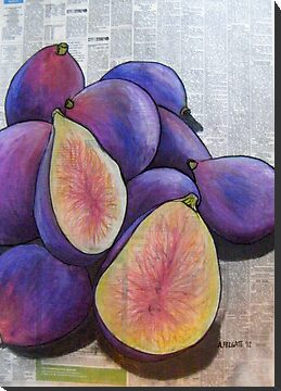 Figs on Newspaper  by Alexandra Felgate