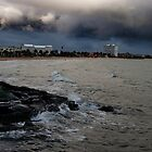 Storm over St Kilda Beach by DavidsArt