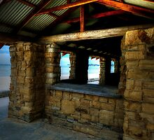 Stone building in Mentone Beach by Gerard Rotse