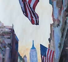 New York City - Manhattan Stars and Stripes by artshop77