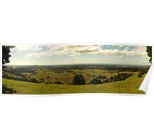 Looking East, intersection of Coolaman Scenic Drive, Corabell and Pacific Highway Poster
