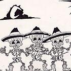 dia de los muertos( day of the dead) vintage mariachi by mojittto