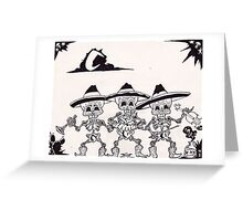 dia de los muertos( day of the dead) vintage mariachi Greeting Card