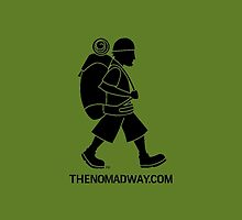 The Nomad Way - iPhone/iPod Case (Black on Green) by TheNomadWay