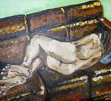 sleeping girl by Christopher  Raggatt