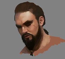 Khal Drogo - Digital Portrait by Cptninja