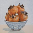 Persimmons in a dragon bowl by gatyakelly