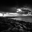 Port Fairy lighthouse moving low clouds sunrise by hangingpixels
