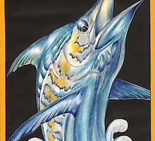 Sword Fish Drawing by John Symonette