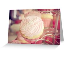 Pink Ribbon Day Cup Cake Greeting Card