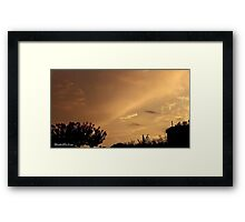 July 2012 Sunset 7 Framed Print