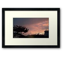 July 2012 Sunset 26 Framed Print