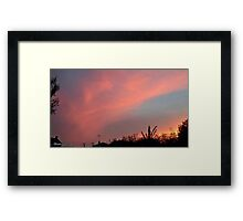 July 2012 Sunset 33 Framed Print