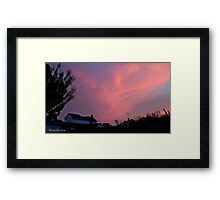 July 2012 Sunset 34 Framed Print