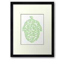 Hop Varieties of The World Framed Print